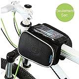 WOTOW-Fahrrad-Rahmentasche für das Smartphone, für vorderen Stangenbereich, oben, Mountainbike / Rennrad, Doppel-Tasche mit Touchscreen-Funktionalität, geeignet für Iphone 6 Plus, Samsung Galaxy Note 3 bis zu 14,5 cm (5,7 Zoll)