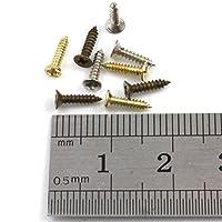 1.7 x 8mm STEEL POZI SCREWS TINY MICRO MODEL MINI MAKE DOLLSHOUSE CIGAR BOX DIY (Gold x 100 (H194))