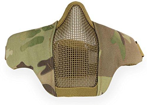 Kapmore Maschera Airsoft Sciopero Acciaio Metà Viso Maschera Protettiva Attrezzature Esterni (Camouflage2)