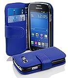 Cadorabo Coque pour Samsung Galaxy Trend Lite Bleu CÉLESTE Housse de Protection Etui Portefeuille Cover pour Trend Lite - Stand Horizontal et Fente pour Carte