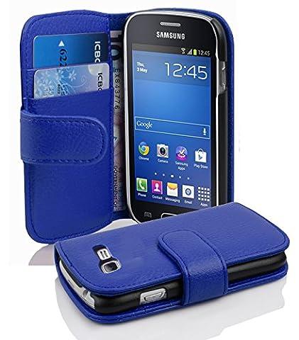 Cadorabo - Etui Housse pour Samsung Galaxy TREND LITE (S7390) - Coque Case Cover Bumper Portefeuille (avec fentes pour cartes) en BLEU CÉLESTE
