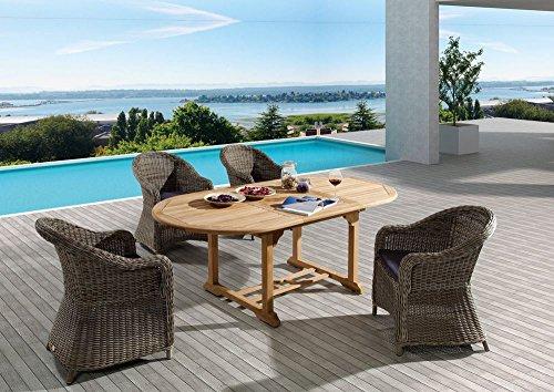 Gartentisch Destiny Tisch Four Seasons Teaktisch 150 100 75