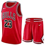 FOKN Heren Basketbal Kleding Set Michael Jordan # 23 Chicago Bulls Jersey Ademende Fitness Mouwloos T-shirt Jersey Fan Sweatshirt