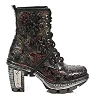 NewRock NEW ROCK NEOTR008-S13 Vintage Flower Red Gothic Rock Punk Ladies Boots