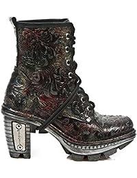 NewRock New Rock NEOTR008-S13 Jahrgang Blume Rot Gothic Rock Punk Damen Stiefel