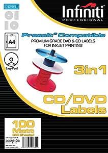 Infiniti A4 Matt CD Label (100)