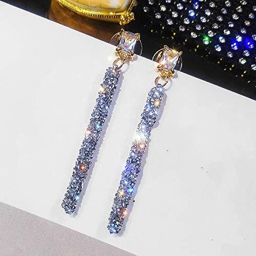 XIANNU Damen-Hängeohrringe,Mode Kristall Klassische Geometrische Lange Baumeln Ohrringe Für Frau Weiblichen Schmuck Einfache Ohrringe (Geschlagene Frau Kostüm)
