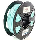 AIO Robotics AIOCYAN PLA 3D Printer Filament, 0.5 kg Spule, Durchmesser 1.75 mm, Cyan Türkis
