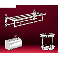In acciaio inox portasciugamani riscaldato/portasciugamano/Barra di tovagliolo/[Scaffale da bagno]/Bagno accessori (Porta In Acciaio Inox Indietro Bar)