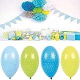 LS-LebenStil LS JaBaDaBaDo 8 Luftballon Blau Grün Gelb Luftballons Geburtstag Party B2005