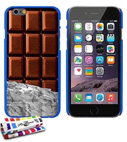 Ultraflache weiche Schutzhülle APPLE IPHONE 6 4.7 POUCES  [Schokolade] [Lila] von MUZZANO + 3 Display-Schutzfolien UltraClear + STIFT und MICROFASERTUCH MUZZANO® GRATIS - Das ULTIMATIVE, ELEGANTE UND  Blau
