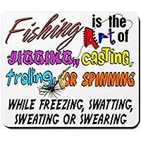 CafePress–L' arte della pesca–Tappetino in gomma antiscivolo, Mouse da