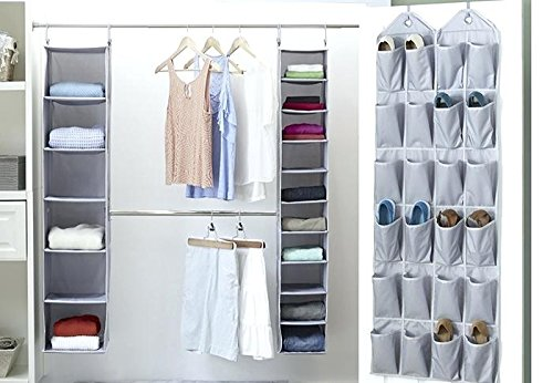 Home Store India Over The Door Shoe Organizer with 24 Reinforced Pockets. Organize Your Shoes with This Shoe Rack Over The Door Organizer and Save Space. Hang on Standard Doors
