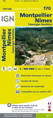 TOP100170 MONTPELLIER/NIMES  1/100.000