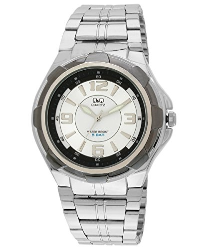 Q&Q Analog White Dial Men's Watch - Q252N404Y image