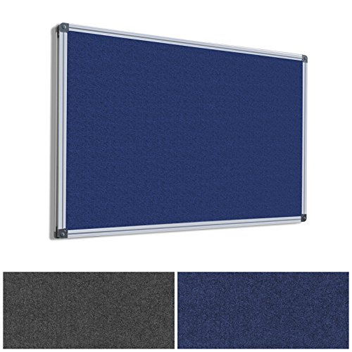 Master of Boards MOB Pinnwand - 7 Größen wählbar - Textil/Filz (blau), 180x120cm -