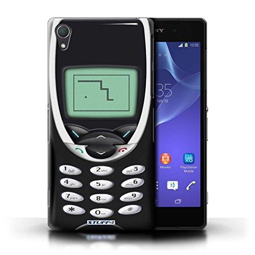 Kobalt® Imprimé Etui / Coque pour Sony Xperia Z2 / Nokia 3310 noir conception / Série Portables rétro Nokia 8210 noir