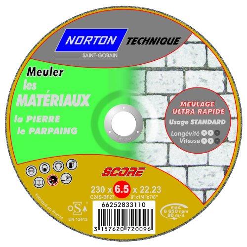 Mit Nabenschaltung déporte Ebarbage Norton score Material Technische 6,5 x 230 x 22,2 mm