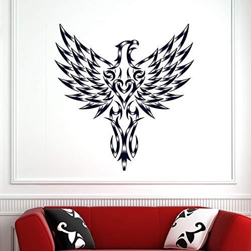 Schädel Halloween Hawk Aufkleber Punk Death Decal Devil Poster Name Autofenster Kunst Wandtattoos Wanddekoration Wanddekoration 58x61cm