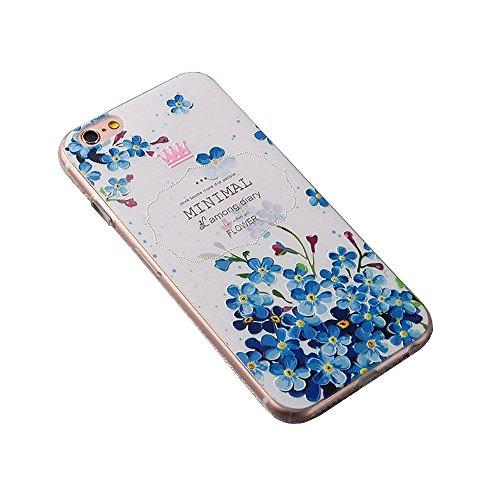 Apple Cover in Silicone TPU Case Cover TPU Gel Silicone Copertura Tacsa Custodia Caso Cover per iPhone 7 plus ( 5.5)orso Orchidea della corona