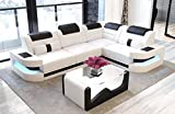 Sofa Dreams Designersofa Como in der L Form mit Leder