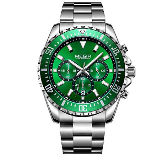 ce561e7c7ecd Megir Relojes Hombre Deportivos Grande Luminoso