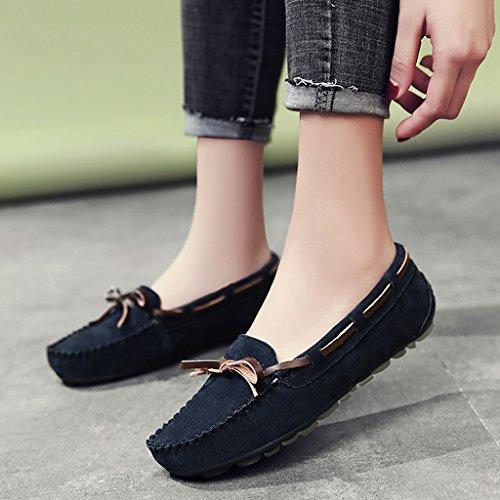 Hwf Zapatos De Mujer Zapatos De Guisantes Primavera Boca Baja Zapatos Individuales Estilo Británico Casual Baja Para Mujeres Zapatos Perezosos Una Mujer Con Pedales (color: C, Tamaño: 35) A
