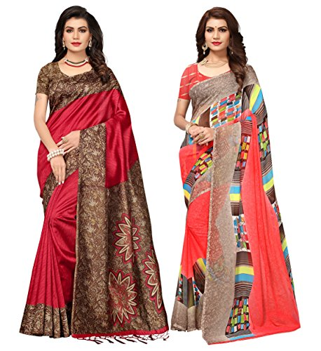 Applecreation sarees new collection combo offers for women art silk & georgette saree for women (SRJA006-Georgette14012_free size)