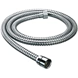 Snowbell Chrome Plated 1.5 m Flexible Tube (Silver)