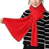 Westeng Bufanda larga de la bufanda de las mujeres Color sólido bufanda caliente del mantón de la bufanda para el invierno de la caída (Rojo)