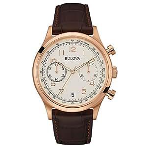 bulova classic vintage 97b148 herren designer armbanduhr chronograph mit armband aus leder. Black Bedroom Furniture Sets. Home Design Ideas