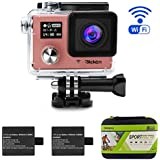 Bleken Sport Action Camera 16MP FHD Wi-Fi Waterproof Video Camera 1080P 2 Rechargeable 1050mAh Batterry 170 Ultra Wide-Angle Lens Portable Package Include Full Accessories Kits