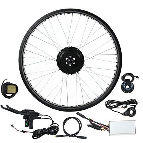 Ebike Umbausatz, 36V 500W Elektrofahrrad Kit, 20-Zoll-E-Bike-Fahrradmotor-Umrüstsatz für Hinterräder Nabenmotor Rad mit Regler, LCD Bildschirm(1#)