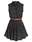 Best Summer Dresses - Allegra K Women Daisy Print Sleeveless Unlined Belted Review