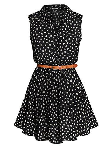 allegra-k-mujer-vestido-camisero-estampado-sin-mangas-con-cinturon-margarita-s