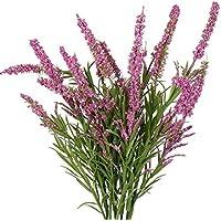 flores artificiales decoración jarrones altos 1 ramo 21 cabezas de Lavanda flores de foam multicolor flor jardín plantas de flores by Sanysis (E)