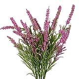 flores artificiales decoración jarrones altos 1 ramo 21 cabezas de Lavanda flores de foam multicolor flor...