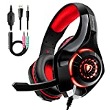 Auriculares Gaming Premium Stereo con Microfono para PS4 PC Xbox One, Cascos Gaming con Bass Surround...