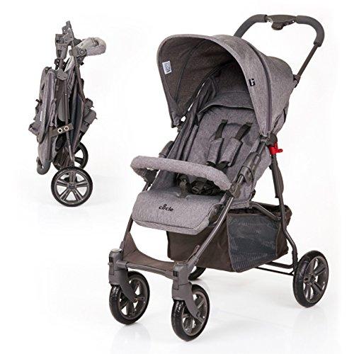 ABC Design Silla de paseo / Cochecito bebé Treviso 4 - Respaldo regulable en altura, a partir de los 6 meses, capota extraíble con protección UV - Gris
