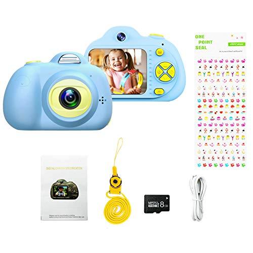 Lumsburry Kinder Kamera, Digitalkamera mit 8 Megapixel 1080 HD Video Dual Kamera für Kinder Geschenk Spielzeug für Jungen Mädchen (Blau)