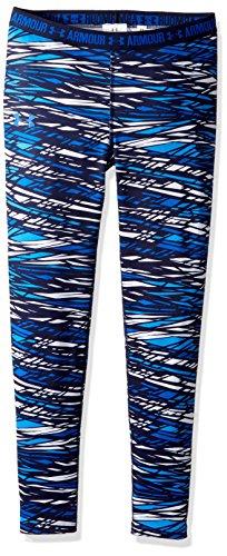 Under Armour Mädchen Heat Gear Bedruckte Under Armour Girl 's Heat Gear bedruckter Base Layer Leggings–Schwarz, Jugend/klein, Mädchen, Lapis Blue/Lapis Blue (Xs Under Armour Jugend)