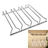 MultiWare Pack of 4 Row Wine Glass Rack Stemware Rack Champagne Glass Rack Holder With Screws