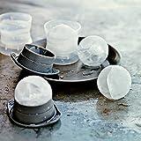 XXXL Eiskugelform - 6cm Durchmesser - 2er Set - für riesige Eiskugeln, runde Eiswürfel -