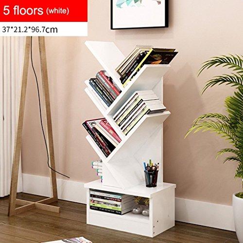 GRY Einfaches modernes Bücherregal-Bücherregal-Regal, das kreative Baum-Form mit Fach landet,5 Etagen,* 2 * (Mdf Regal Bücherregal 2)