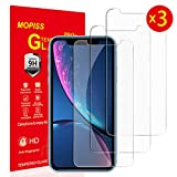 "Mopiss Lot de 3, Verre Trempé pour iPhone XR (6.1""), Film Protection écran - Anti Rayures - sans Bulles d'air -Ultra Résistant (0,33mm HD Ultra Transparent) Dureté 9H Glass"