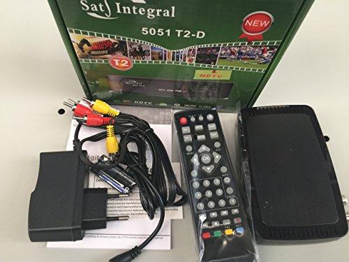 SatIntegral 5051 T2-D Sintonizador TDT de alta definición DVB-T/T2, Receptor y Grabador TDT Full HD 1080P con soporte Dolby Digital, Reproductor multimedia