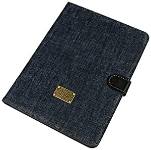 "QIOTTI QX-T-0110-03-STS10 Etui pour Samsung Galaxy Tab S 10,5"" SM-T805 Denim Bleu Raw"