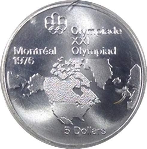 1973 Royal Canadian Mint Map Of America, Canada - 1976 Olympiade XXI, Proof, .925 Silver -
