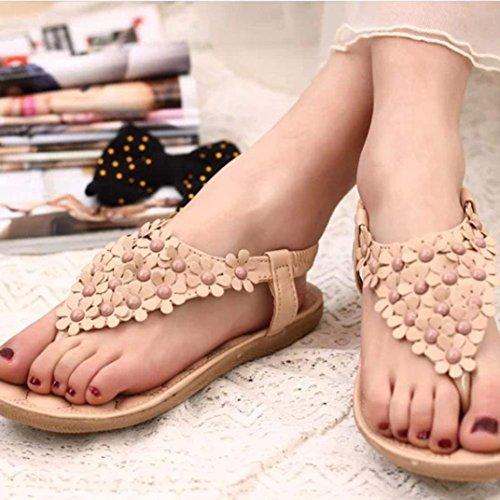 Frisado Bohemia Cáqui Toe De Sapatos Praia Sandália Verão Clipe Rcool qSFtz5wn