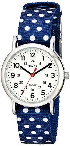 Timex Women's TW2P653009J Weekender Silver-Tone Watch with Reversible Nylon Band  available at amazon for Rs.5569